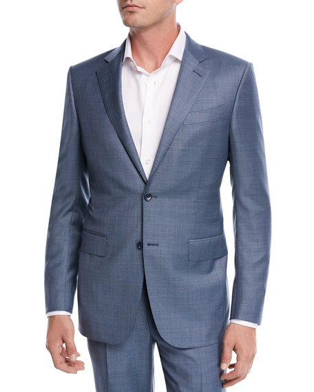 Ermenegildo Zegna Sharkskin Wool Two-Piece Suit