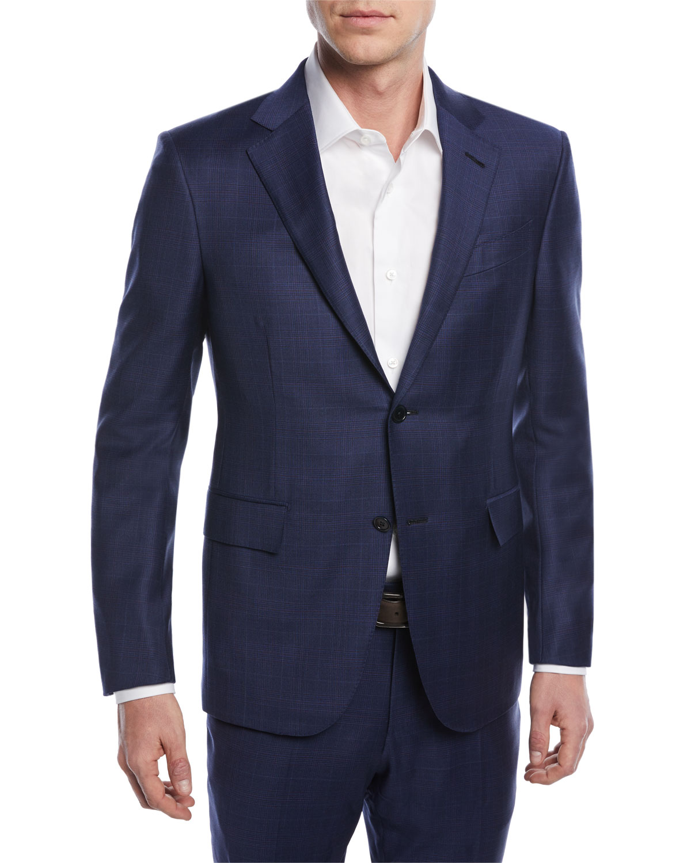 Ermenegildo Zegna Tonal Plaid Trofeo® Wool Two-Piece Suit  c72b864683ae