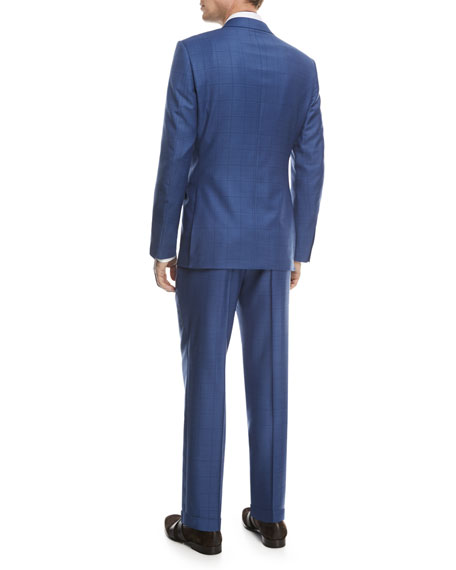 Windowpane Trofeo® Wool Two-Piece Suit