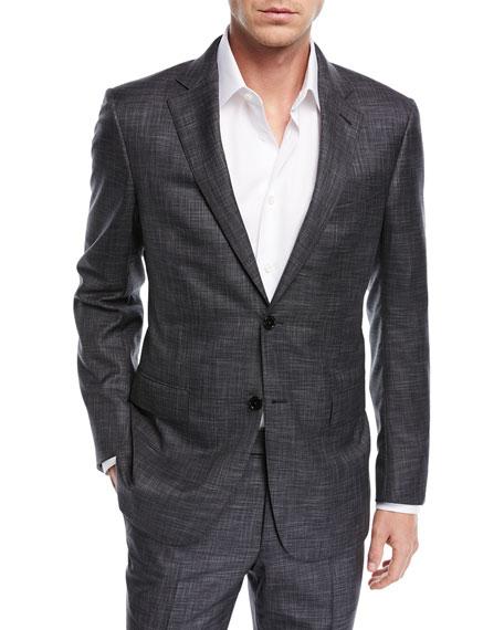 Ermenegildo Zegna Tonal Plaid Trofeo® Wool Two-Piece Suit 7c9bb537c71f