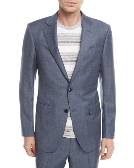 Melange Wool Two-Piece Suit