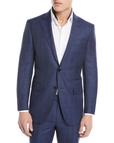 Ermenegildo Zegna Tonal Plaid Two-Piece Wool-Blend Suit