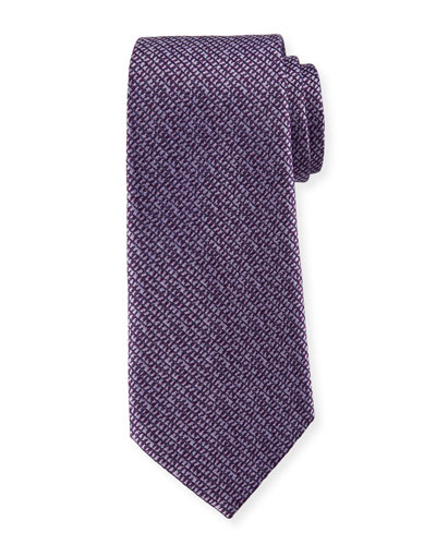 Grafiato-Check Silk Tie
