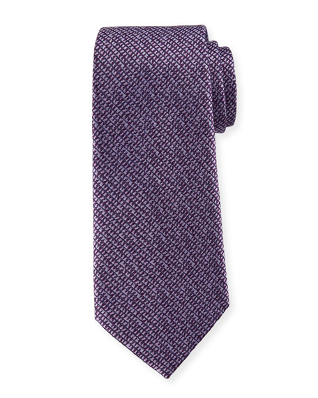 Grafiato-Check Silk Tie