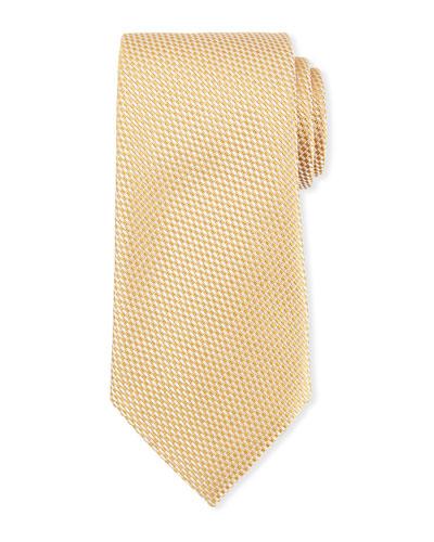 Tonal Checked Silk Tie