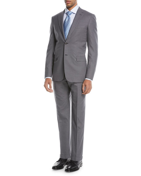 Super 150s Wool Twin-Stripe Two-Piece Suit
