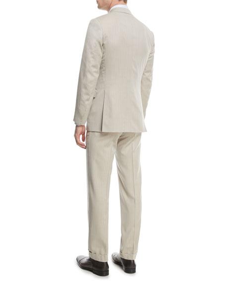 150s Wool Herringbone Super Two-Piece Suit