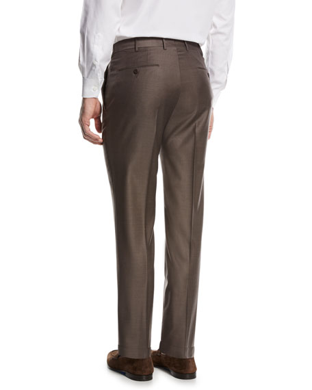 Trofeo Wool Dress Pants, Brown