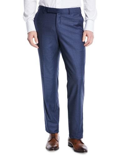 Trofeo Wool Dress Pants, Blue