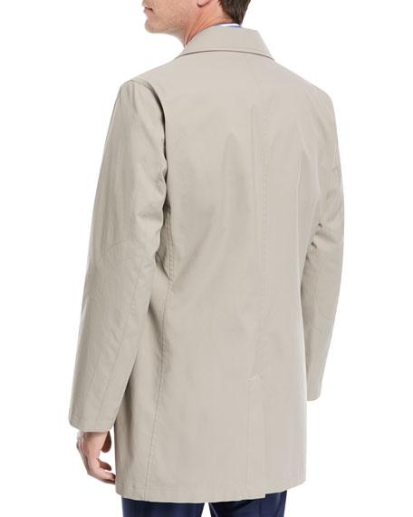 Silk-Blend Rain Coat