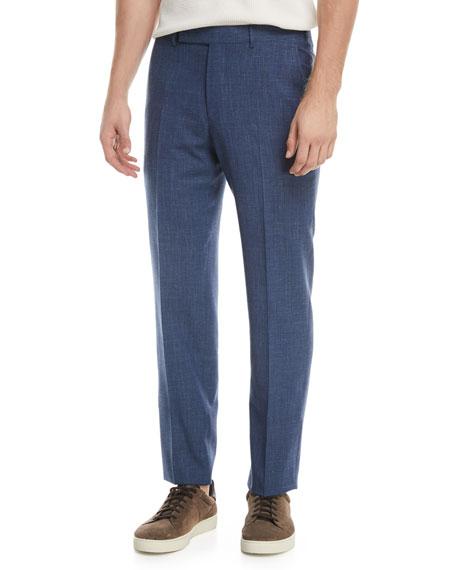 Ermenegildo Zegna Melange Wool-Blend Trousers