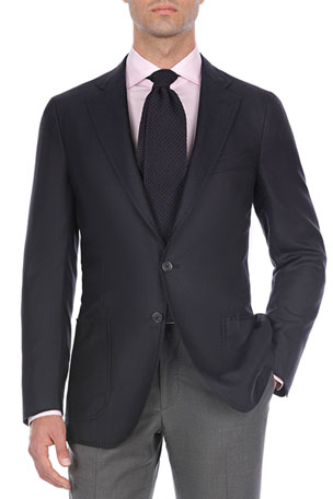 Isaia Solid Cashmere-Blend Sport Coat