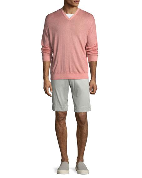 Men's Twill Slim-Straight Shorts
