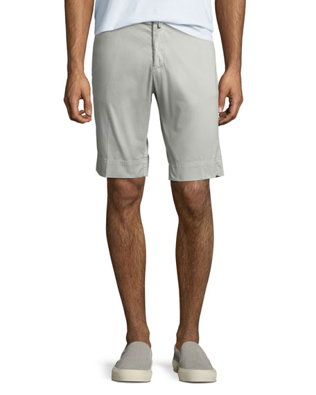 Kiton Men's Twill Slim-Straight Shorts