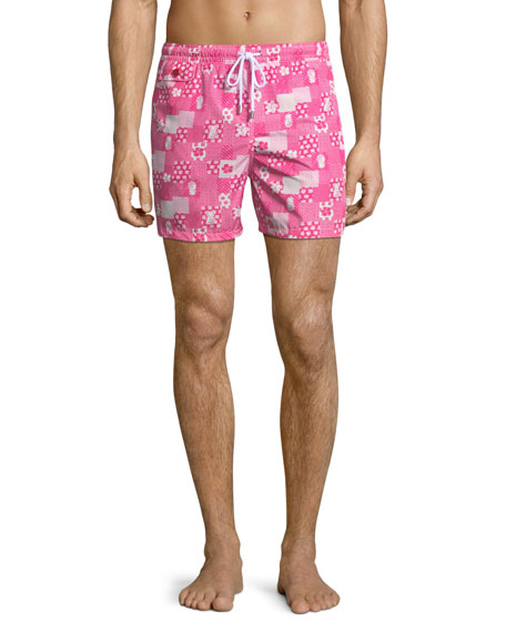 Kiton Patchwork Swim Trunks