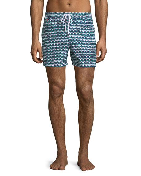 Kiton Waves Pattern Swim Trunks