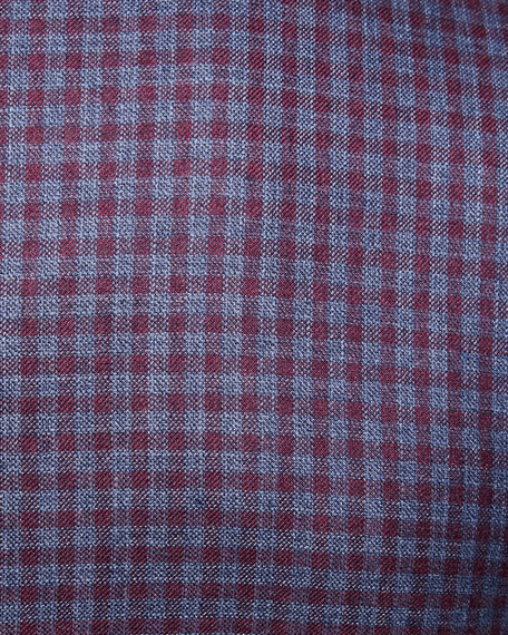 Cashmere-Silk Check Jacket