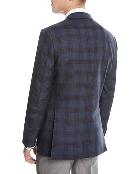 Plaid Double-Face Sport Coat