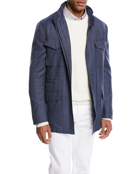 Brioni Textured Wool Field Jacket