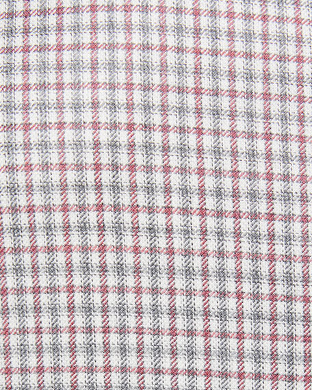 Checked Wool Two-Button Blazer
