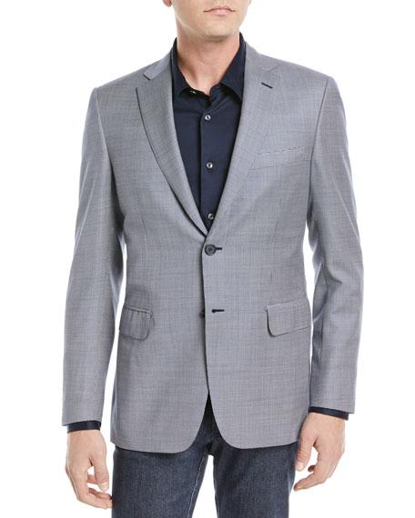 Tic Textured Wool Blazer