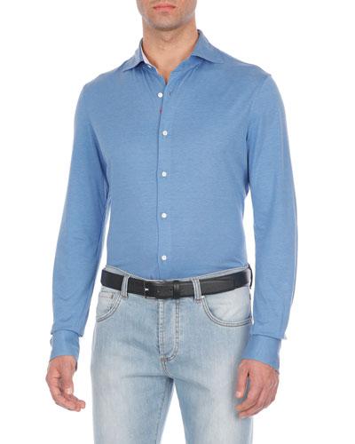 Silk-Blend Sport Shirt