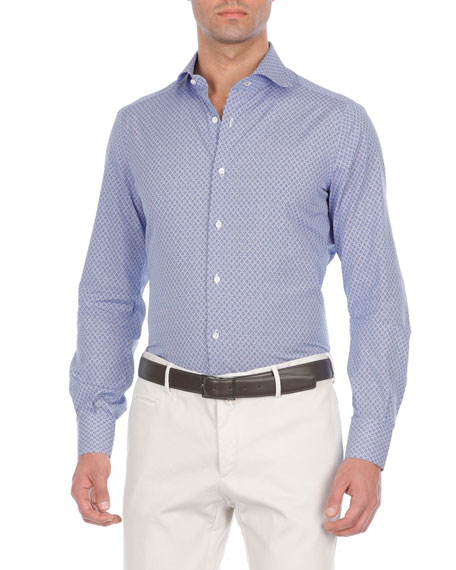 Anchor-Print Cotton Sport Shirt