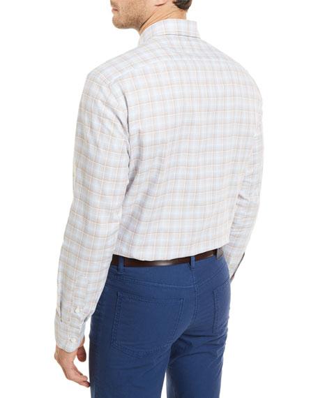 Plaid Long-Sleeve Shirt, Tan
