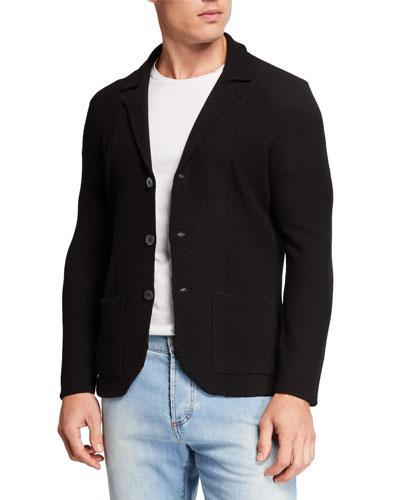 Wool Cardigan Blazer
