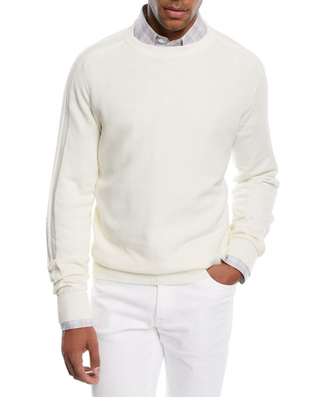 Brioni Cashmere-Blend Honeycomb Sweater