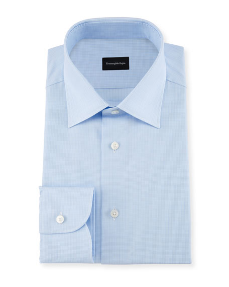 Ermenegildo Zegna 100fili Tonal Check Dress Shirt