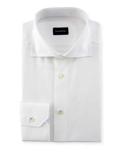 Ermenegildo Zegna Seersucker Cotton Dress Shirt