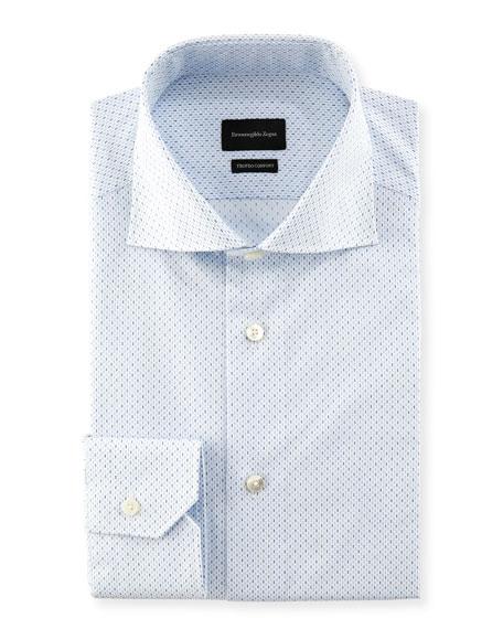 Trofeo Comfort Micro-Print Cotton Dress Shirt