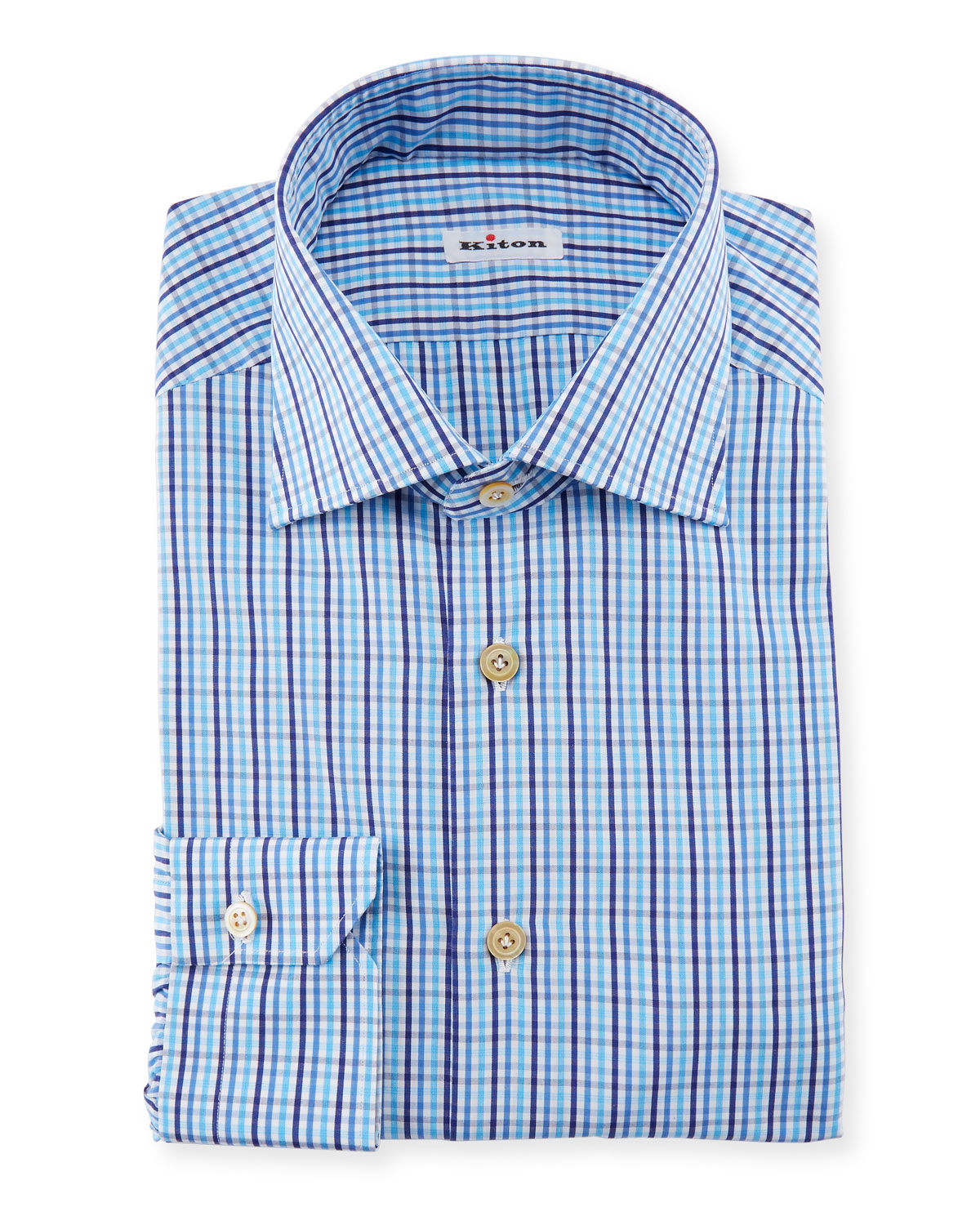 11f8b29c98 Kiton Multi-Check Dress Shirt