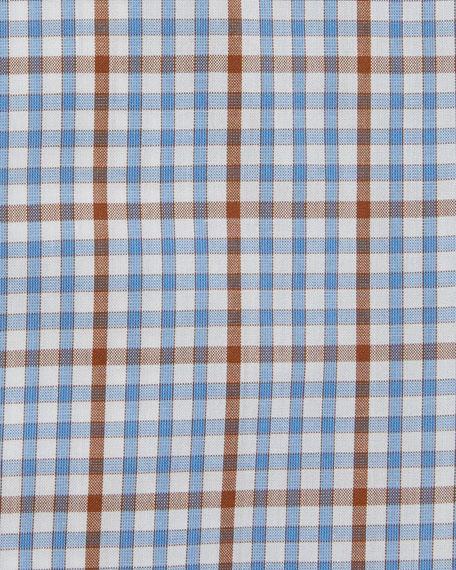 Grid-Check Woven Dress Shirt