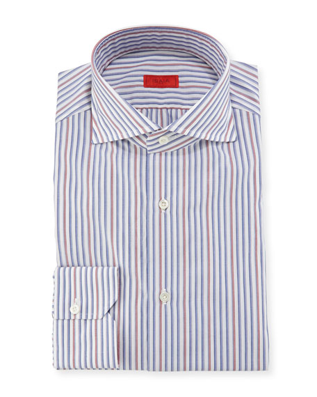 Striped Woven Dress Shirt