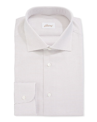 Dot Pattern Cotton Dress Shirt