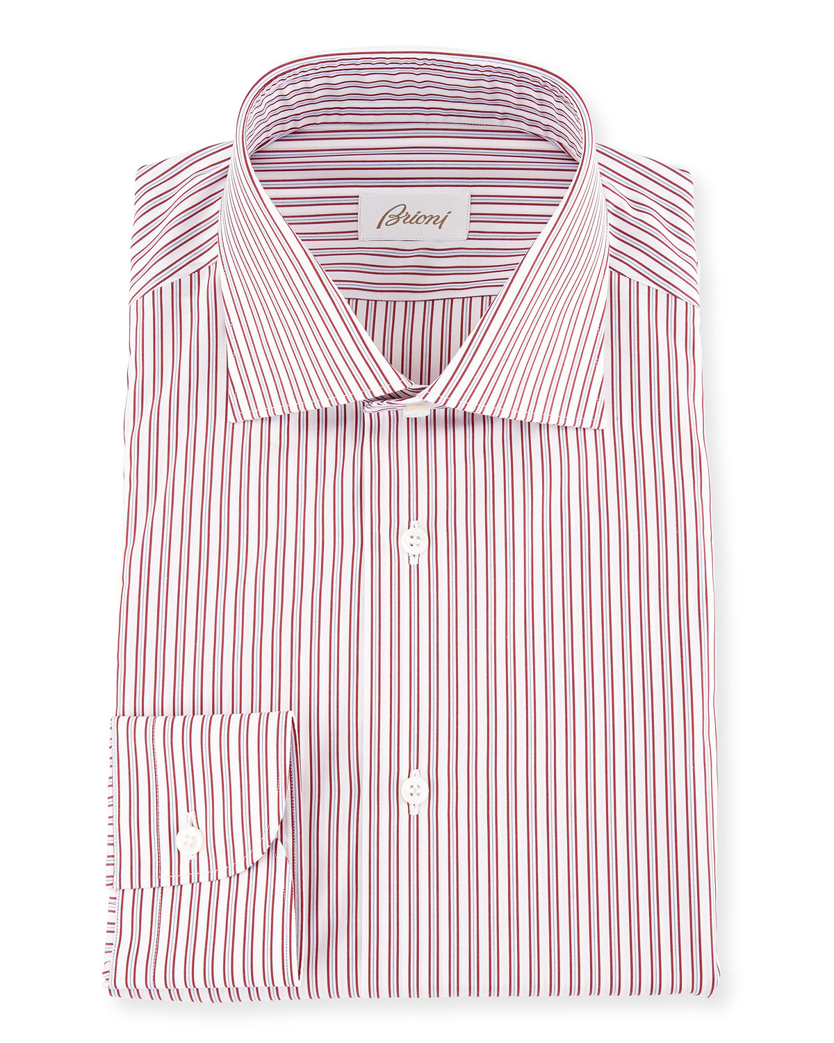 Brioni Two Tone Striped Dress Shirt Neiman Marcus