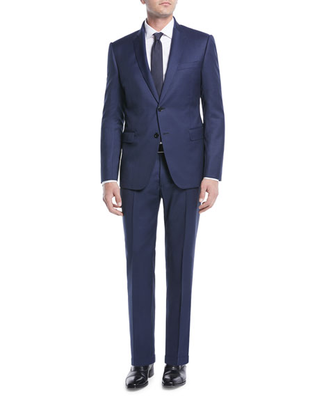 Men's Micro-Weave Wool Two-Piece Suit