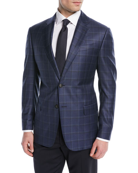 Shadow Windowpane Wool Jacket