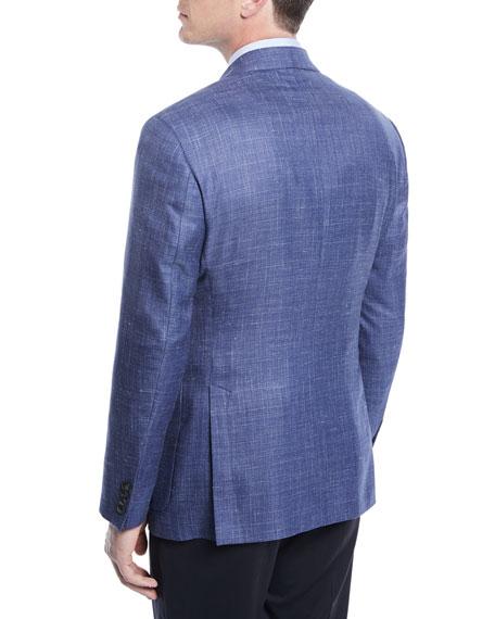 Crosshatch Wool-Blend Blazer