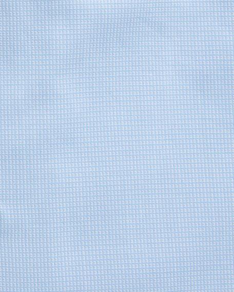 Modern Fit Textured Barrel-Cuff Dress Shirt