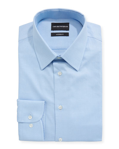 Modern Fit Textured Barrel-Cuff Dress Shirt