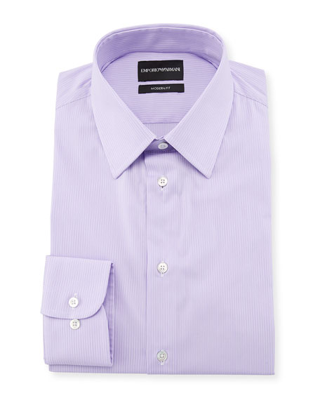 Emporio Armani Modern-Fit Fine-Stripe Dress Shirt