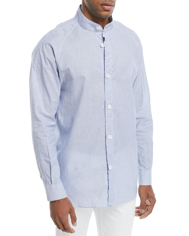Mandarin Collar Shirt Neiman Marcus