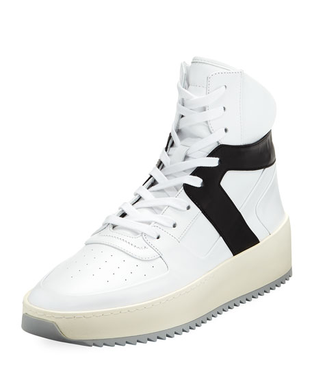 Men's Basketball Leather High-Top Sneakers