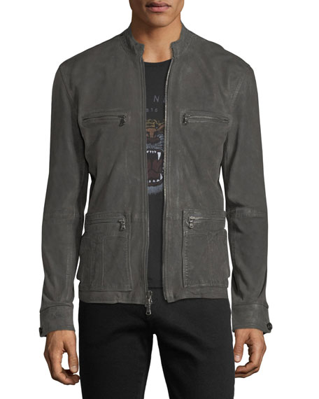 John Varvatos Star USA Military Field Leather Racer
