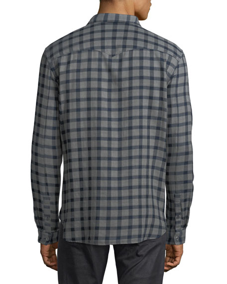 Plaid Cotton Western Shirt