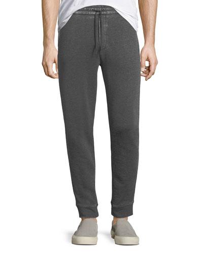 Textured Knit Drawstring Pants