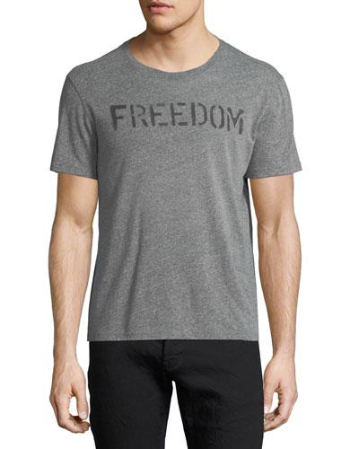 Freedom Graphic Tee Shirt, Hematite